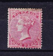 1855/57  SG 62 * Queen Victoria 4 D. Karmin  (repariert Oben) - 1840-1901 (Victoria)