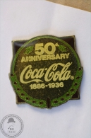 Vintage/ Retro Coca Cola Coke Advertising 50 Anniversary 1886 - 1936 - Wilson Marketing 1985 - Pin Badge - #PLS - Coca-Cola