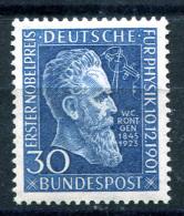 BUNDESPOST 1951 - Mi.147 Roentgen MNH (postfrisch) Perfect (VF) - Unused Stamps