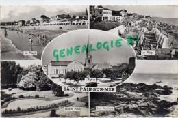50-  SAINT PAIR SUR MER -  LA PLAGE- EGLISE- JARDIN PUBLIC -- ROCHERS - Saint Pair Sur Mer