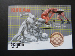 "BLOC FEUILLET ""KAMPUCHEA"" - J.O.  SEOUL 88  - BF 58   (YetT) - Summer 1988: Seoul"