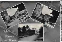 EMILIA ROMAGNA-PIACENZA-PIANELLO VAL TIDONE VIA ROMA VEDUTE MULTIPLE E SALUTI DA