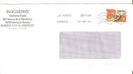 ENVELOPPE  AVEC  TIMBRE  ART GOTHIQUE ANNEE 2013 OBLITERE - France
