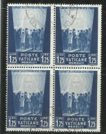 VATICANO VATICAN VATIKAN 1942 OPERE DI CARITA´ DI PAPA PIO XII PRO PRIGIONIERI LIRE 1,25 QUARTINA USATA USED OBLITERE - Used Stamps