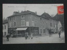 Ref2646 AX109 CPA Animée De Matour - Rue De La Clayette - Jaquet édit. Commerces - France