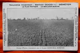 CPA  Publicitaire Pour Le Semoir Déméter à La Mothe St Saint Héray 79 - Tracteurs