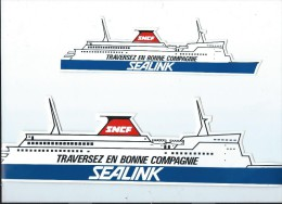 SNCF/ SEALINK/Transports Maritimes/ Traversez en bonne compagnie / Ann�es 1980     ACOL1
