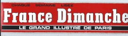 Journal/France Dimanche /Le Grand illustre de Paris /  Ann�es 1980     ACOL3