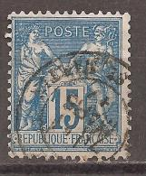 Frankreich 1877/1878 - Michel 73a O - 1876-1898 Sage (Type II)