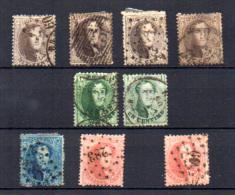 Médaillons, Léopold 1er, N° 13A – 14A – 15A – 16A,  Cote 162 €, - 1863-1864 Medallions (13/16)