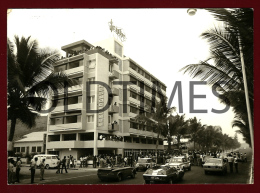 ANGOLA - NOVO REDONDO - HOTEL SENADOR - UMA CORRIDA DE AUTOMOVEIS - 1960 REAL PHOTO PC - Angola