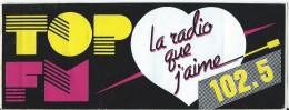 Radio / TOP FM / La Radio Que J'aime / Années 1980     ACOL5 - Autocollants