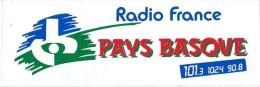 Radio / Radio France Pays Basque /101,3/ Années 1980     ACOL7 - Autocollants