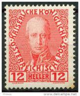 #13-09-00478 - Austria - 1908 - SG 195A - MH - QUALITY:40% - stain
