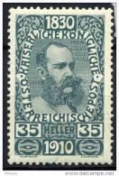 #13-09-00521 - Austria - 1910 - SG 233 - MH - QUALITY:100%
