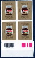 """Italia - 2014  """"50º Anniversario Della Nutella  €. 0,70"""" Nuovo Con Codice A Barre In Quartina - 2011-...:  Nuovi"""