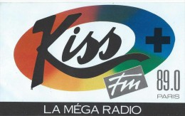Radio/ Kiss + FM/La Méga Radio :89,0 Paris / Années 1980     ACOL9 - Stickers