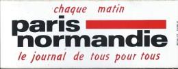 Journal / Paris Normandie/ Chaque Matin/Le Journal Pour Tous / / Années 1980     ACOL10 - Stickers