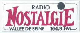Radio / Radio Nostalgie /Vall�e de Seine / 104.9 FM / / Ann�es 1980     ACOL11