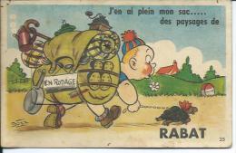 MAROC... Carte à Système.. J'en Ai Plein Mon Sac..des Paysages De RABAT.. Randonneur, Tortue - Rabat
