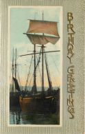 Birthday Greetings Postcard Sailing Ship - Geburtstag