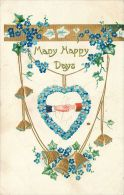 Many Happy Days Wedding Anniversary Marriage Greetings Postcard Star Series - Marriages