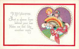 Valentine's Day Greetings Postcard USA - Valentine's Day