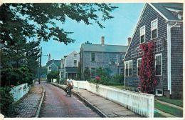 Martin's Lane, Nantucket, Massachusetts, United States USA US Postcard Used Posted To UK 1988 Stamp - Nantucket