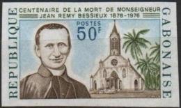 GABON Poste 357 ** MNH Non Dentelé Imperforated : Monseigneur Jean-Rémy BESSIEUX Eglise - Gabón (1960-...)