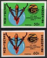 GABON Poste 358/9 ** MNH Non Dentelé Imperforated : Jeux Sportifs Afrique Centrale Zone 5 (2) - Gabón (1960-...)