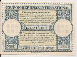 URUGUAY -  COUPON REPONSE INTERNATIONAL - 15 CENTÉSIMOS - Uruguay