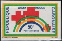 GABON Poste Aérienne 111 ** MNH Non Dentelé Imperforated : Croix Rouge Red Cross - Gabón (1960-...)