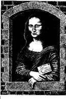 CPSM TABLAU LA JOCONDE MONA LISA En Attendant Le Facteur D´ André Roussey 1988 350 Expl - Paintings