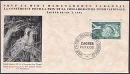 "Yugoslavia 1951, Illustrated Cover ""Peace Congress"" W./special Postmark ""Zagreb"", Ref.bbzg - 1945-1992 Socialistische Federale Republiek Joegoslavië"