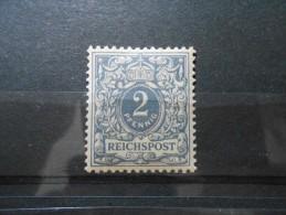D.R.52** 2Pf - Reichspost 1900 Lebhaftgrau - Ungebraucht