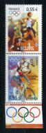N° 4222 - 1223   JO BEIJING  NEUF ** Cyclisme , équitation , Tennis , Athlétisme - Frankrijk