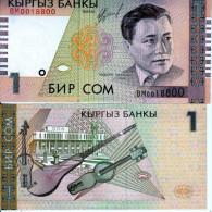 KIRGHISISTAN KYRGYZSTAN 1 SOM 1999  FDS UNC - Kirghizistan