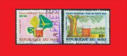 Mali 1989 Poste Aérienne Airmail, Green Nature / Nature Verte Expres Cancel - Mali (1959-...)