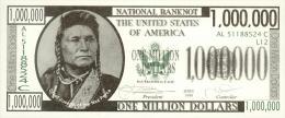 1 Million DOLLAR, UNC, 1999  ! - Small Size (1928-...)