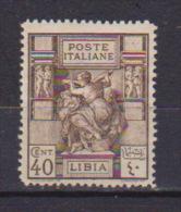 COLONIE ITALIANE LIBIA 1924  SIBILLA LIBICA SASS. 41 MLH VF - Libyen
