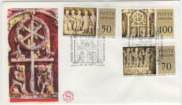 VATICANO - 1977 - MUSEI VATICANI SARCOFAGI PALEOCRISTIANI - 2 BUSTE FDC - FDC