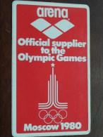 MOSCOW 1980 - ARENA Official Supplier To The OLYMPIC GAMES ( Zie Foto Voor Détail ) Zelfklever Sticker ! - Publicités