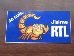 Je Suis .............. J'aime RTL ( Zie Foto Voor Détail ) Zelfklever Sticker Autocollant ! - Publicidad