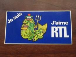Je Suis .............. J´aime RTL ( Zie Foto Voor Détail ) Zelfklever Sticker Autocollant ! - Publicidad