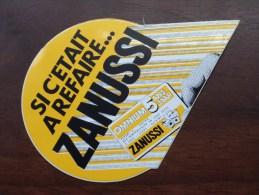 Si C'etait A Refaire ZANUSSI Omnium 5 Ans ( Zie Foto Voor Détail ) Zelfklever Sticker Autocollant ! - Publicidad