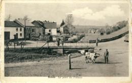 Bande - Le Pont Du Fonzay - Fermier Avec Sa Vache  ( Voir Verso, Publicité D´Hôtel  ) - Nassogne