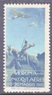 ITALY  AAMC  5  VIGNETTE  AEROPHILATELIC  CONCORSI  AEREI  VERONE 1910  * - 1900-44 Vittorio Emanuele III