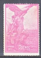 ITALY    VIGNETTE  AEROPHILATELIC  CONCORSI  AEREI  FIRENZE  1911  * - 1900-44 Vittorio Emanuele III
