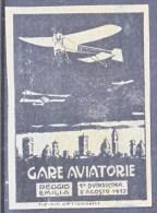 ITALY    VIGNETTE  AEROPHILATELIC   REGGIO  EMILIA  1912  * Reprint - 1900-44 Vittorio Emanuele III