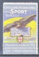 ITALY    VIGNETTE  AEROPHILATELIC    CONCORSI  AEREI  VERCELLI  1913  * - 1900-44 Vittorio Emanuele III